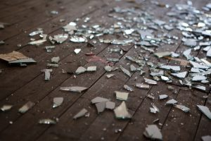 Broken glass repair at a house in Chicago, Illinois