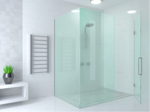 Custom glass shower door enclosure in Gary, Indiana
